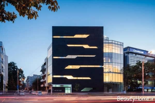 ساختمان تجاری با طراحی بی نظیر