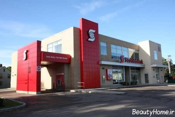 نمای ساختمان تجاری با طراحی متفاوت