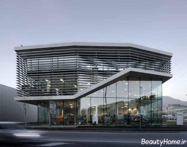 نمای شیشه ای زیبا برای ساختمان های تجاری