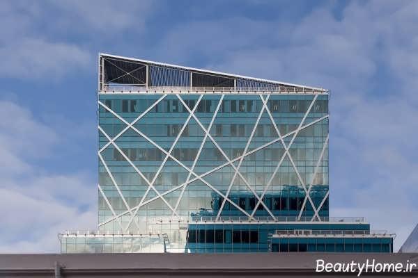 نماهای شیشه ای ساختمان های تجاری