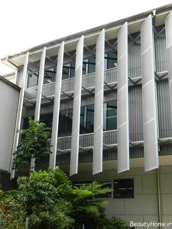 نمای ساختمان تجاری زیبا و متفاوت