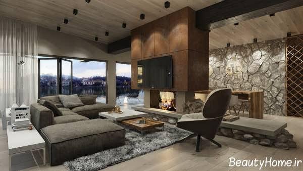 دکوراسیون داخلی پذیرایی در خانه مدرن