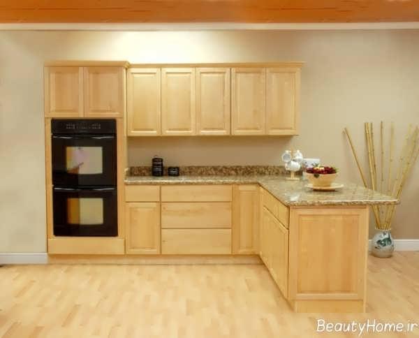 کابینت چوبی با طراحی مدرن