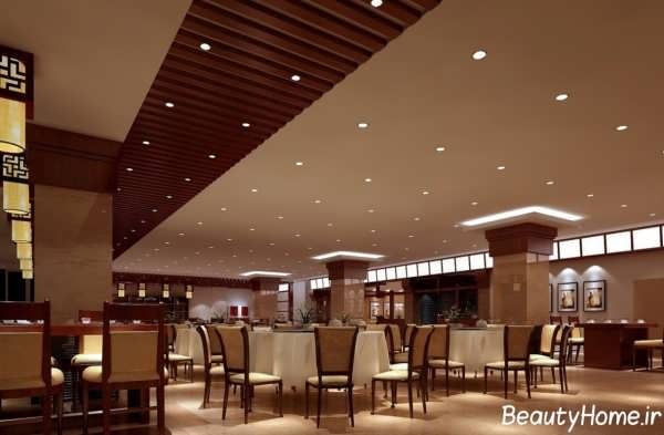 نورپردازی مدرن رستوران