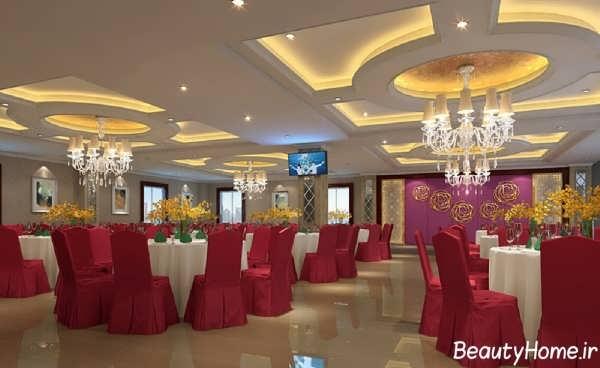 طراحی های زیبا در درون رستوران
