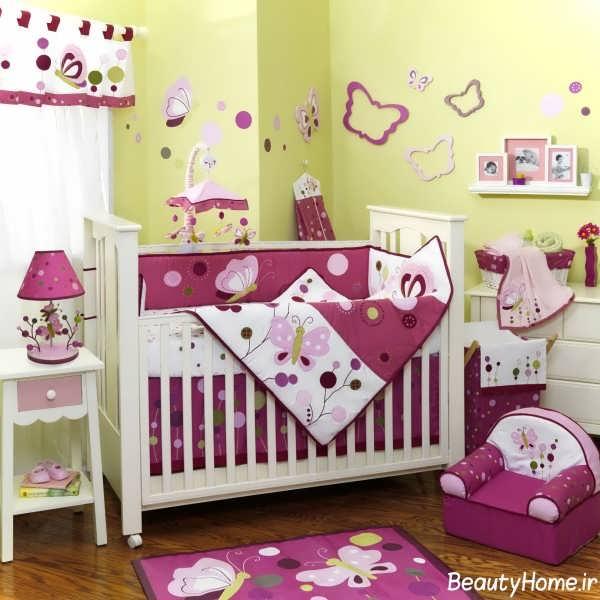 تزیین اتاق نوزاد دختر برای سیسمونی دخترانه