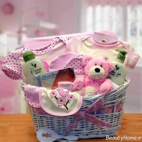 تزیین وسایل حمام نوزاد