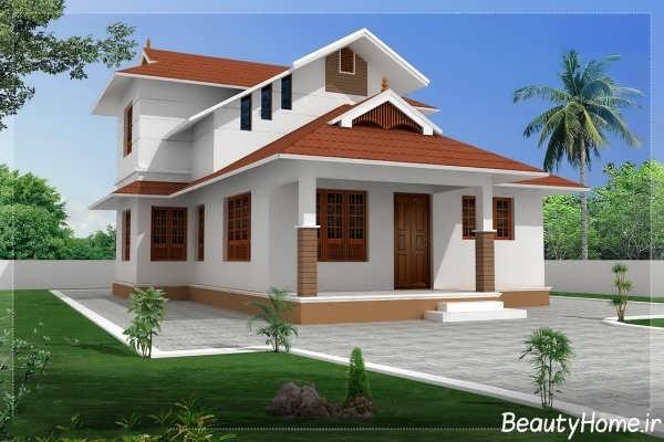 طراحی سقف های شیب دار برای ویلاهای مختلف