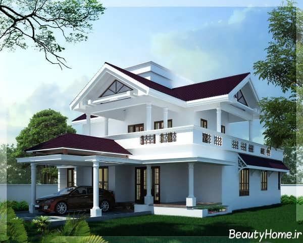 طراحی سقف زیبا شیب دار