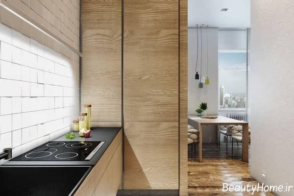 دکوراسیون آشپزخانه برای آپارتمان کوچک
