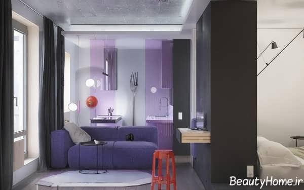 طراحی دکوراسیون اتاق نشینمن کوچک