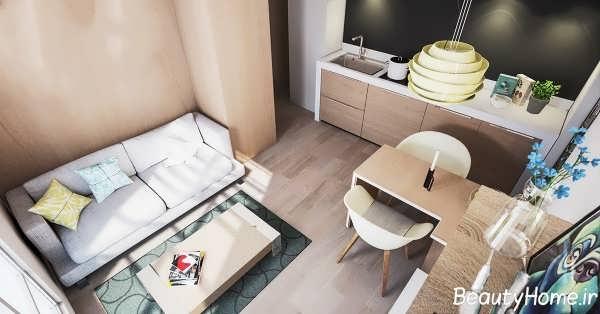 طراحی دکوراسیون داخلی خانه کوچک