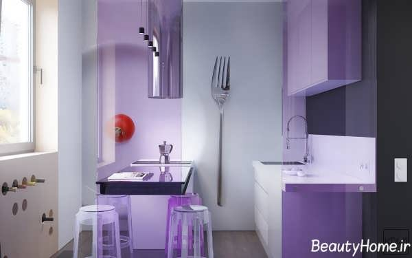 دکوراسیون آشپزخانه با تم اروپایی