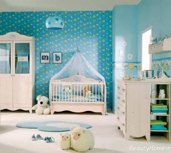 کاغذ دیواری برای اتاق نوزاد