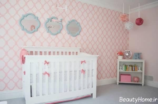 کاغذ دیواری اتاق نوزاد جدید