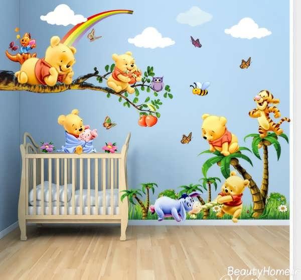 کاغذ دیواری با طرح های عروسکی و ساده