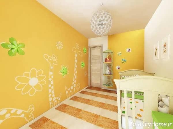 مدل های کاغذ دیواری برای اتاق نوزادان