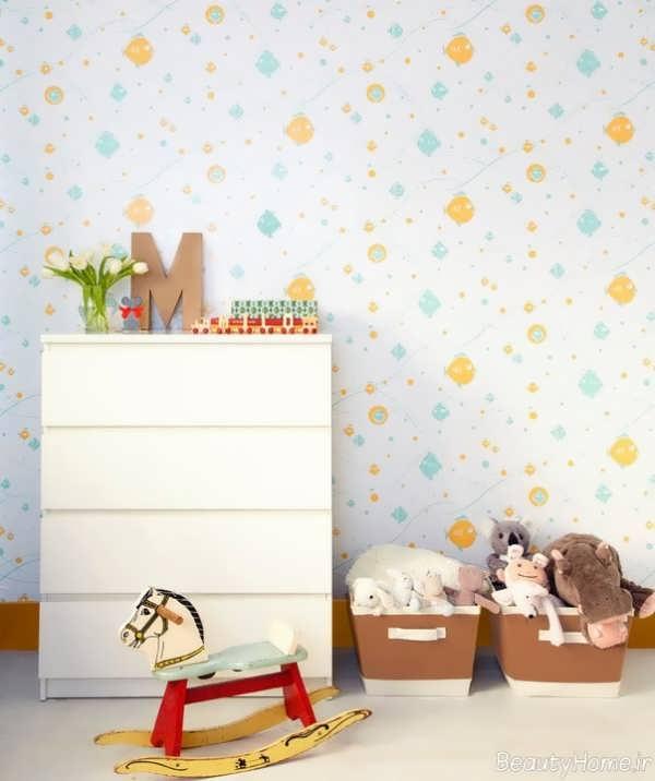 کاغذ دیواری ساده برای اتاق نوزاد
