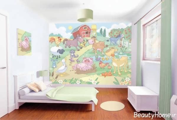کاغذ دیواری پوستری برای اتاق نوزاد دختر