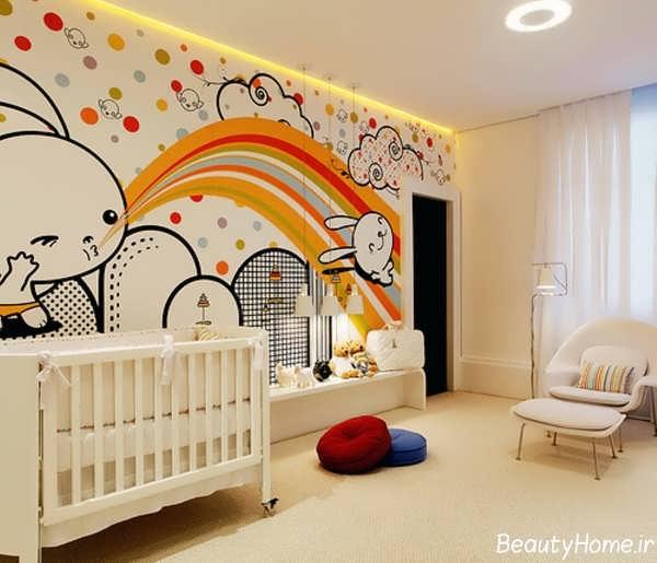 طرح های فانتزی و عروسکی کاغذ دیواری