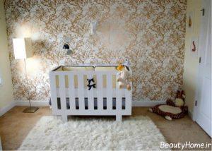 کاغذ دیواری های زیبا برای اتاق نوزاد