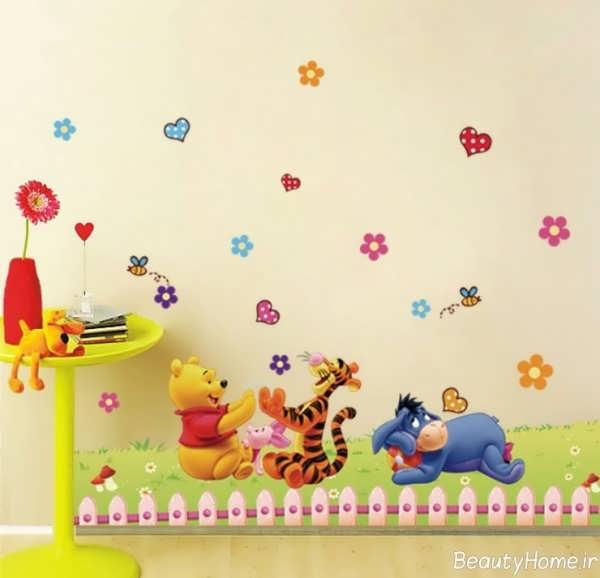 کاغذ دیواری اتاق نوزاد با طرح های عروسکی