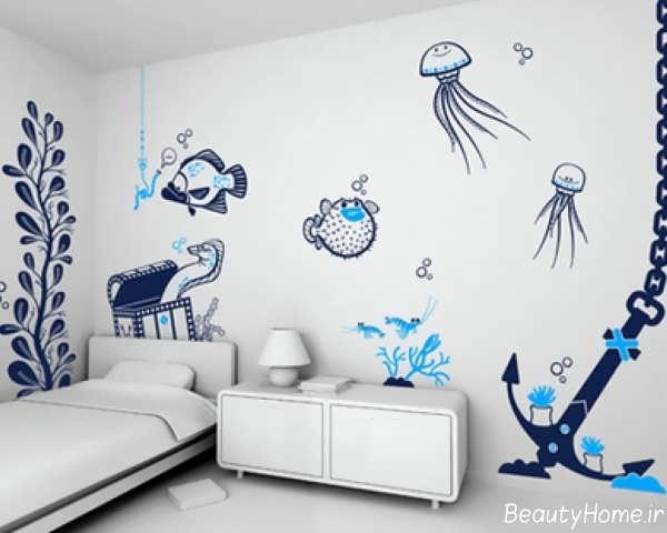 کاغذ دیواری با طرح های فانتزی