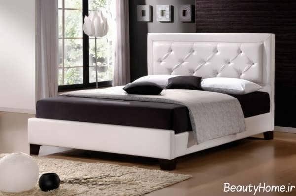 انواع نمونه های تخت خواب عروس با رنگ روشن
