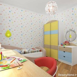 انواع نمونه های دکوراسیون داخلی اتاق کودک پسر و دختر