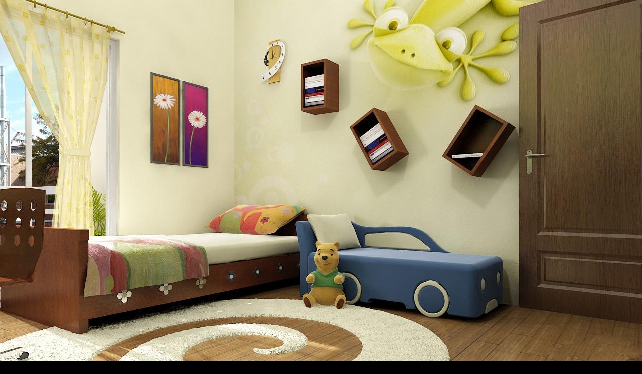 طراحی اتاق کودک با ایده های جالب و زیبا