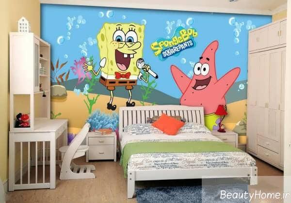 طراحی اتاق کودک با تم کارتونی