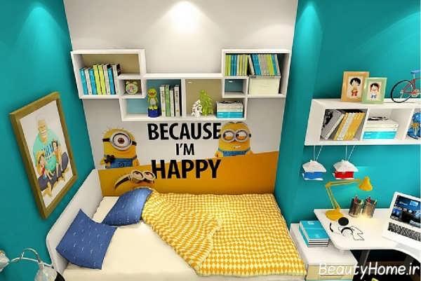 دکوراسیون داخلی اتاق کودک با چیدمانی متفاوت
