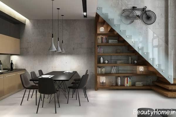 طراحی داخلی آشپزخانه برای خانه دوبلکس