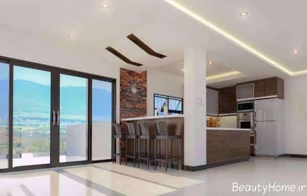 زیباترین طرح های کناف برای سقف آشپزخانه