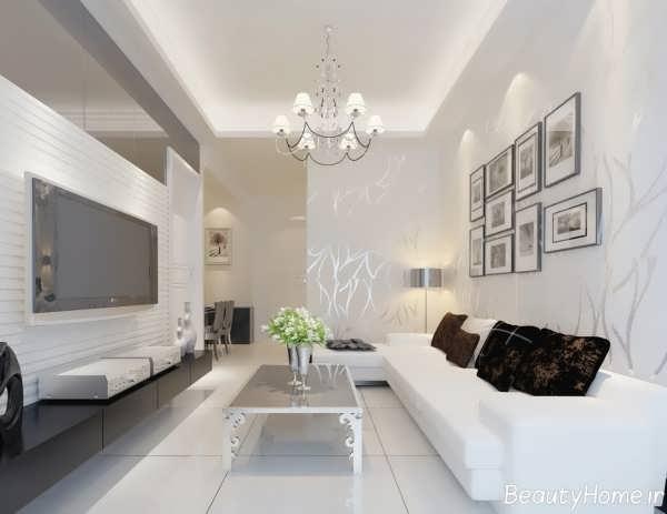 طراحی های مدرن در درون اتاق پذیرایی