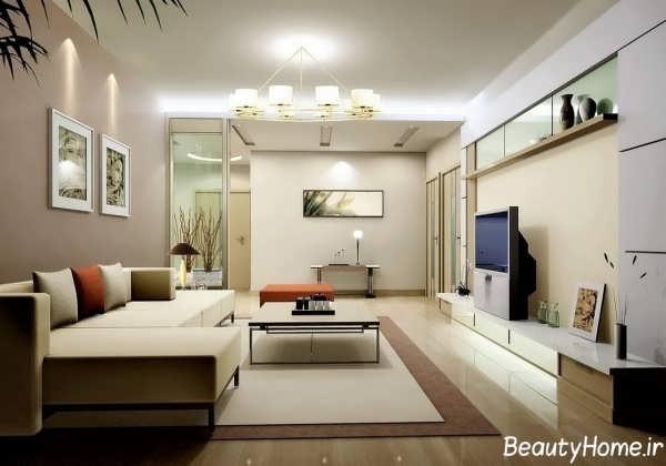 طراحی های زیبا در درون اتاق پذیرایی