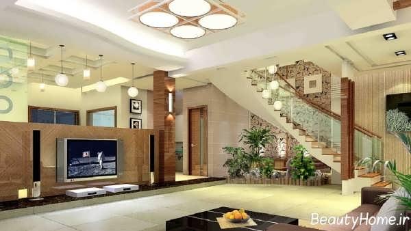 طراحی اتاق پذیرایی زیبا و مدرن