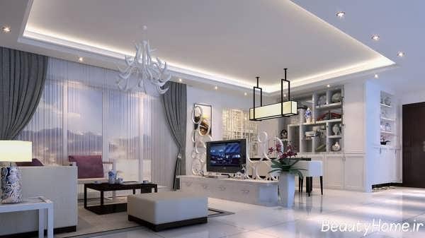 جدیدترین و زیباترین نمونه های طراحی اتاق پذیرایی