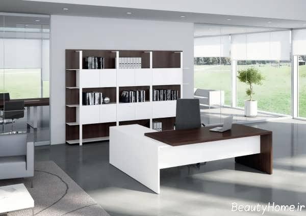 میز های زیبا برای مدیریت با رنگ های مختلف تیره و روشن