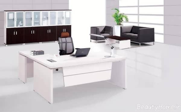 میز ام دی اف سفید برای مدیریت