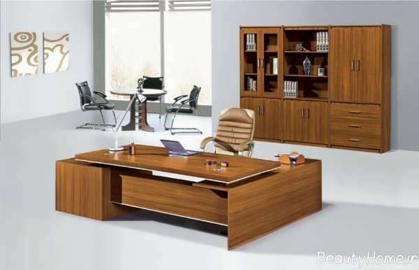 مدل میز چوبی مدیریت