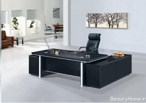میز های مدیریت ام دی اف و چوبی با انواع رنگ های روشن و تیره