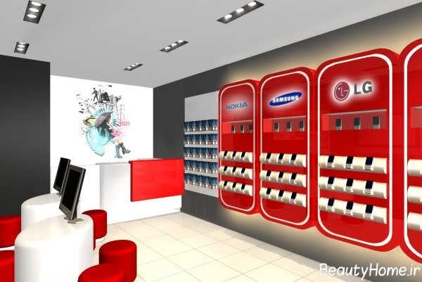 دکوراسیون فروشگاه موبایل جذاب و شیک