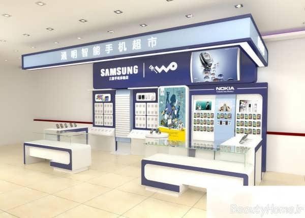 طراحی دکوراسیون داخلی فروشگاه موبایل