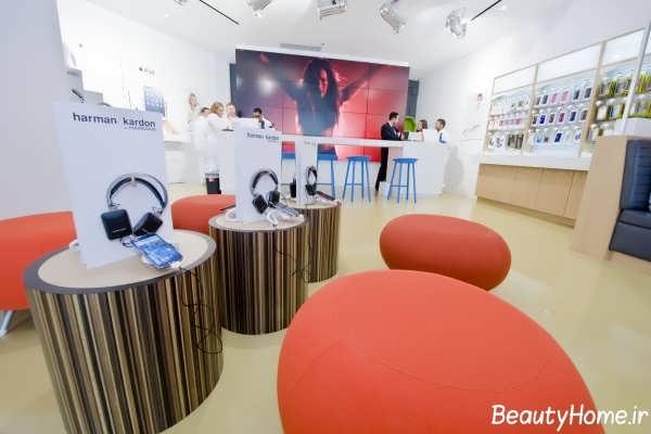 طراحی داخلی مدرن و لوکس برای مغازه موبایل فروشی