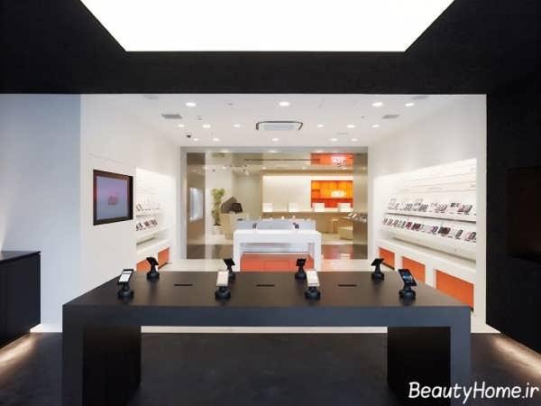 زیباترین نمونه های طراحی دکوراسیون برای فروشگاه های موبایل