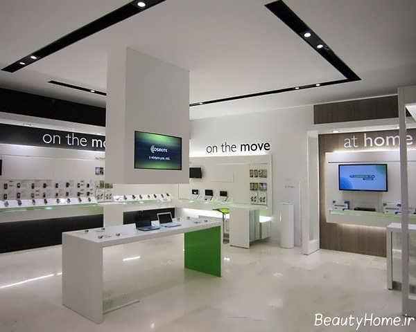 طراحی داخلی زیبا و بی نظیر برای فروشگاه موبایل فروشی