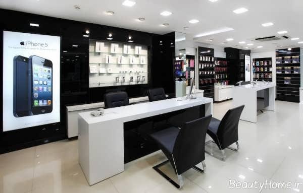فروشگاه موبایل با طراحی داخلی زیبا
