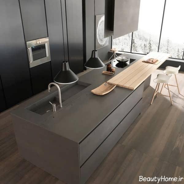 زیباترین نمونه های دکوراسیون برای آشپزخانه های بزرگ و مدرن