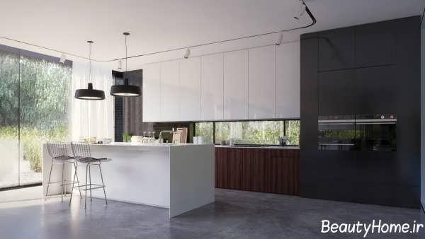 دکوراسیون داخلی آشپزخانه مدرن برای ویلا